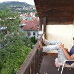 Sarajevo: Me on the Guesthouse Balcony