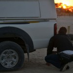 Changing Tire at Sunrise