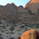 Our Car Parked at Spitzkoppe
